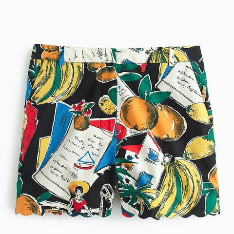 High-Waisted Short in Postcard Print