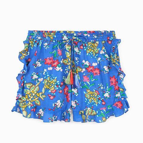 Ruffle Floral Shorts