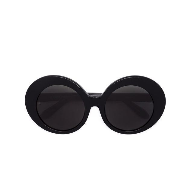 oversized round frame sunglasses