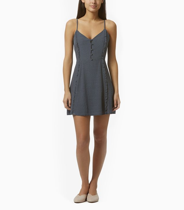 Avec Les Filles Dot Print Slip Dress