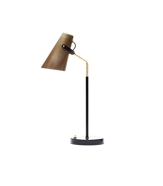 Atelier de Troupe Eperon Black and Brass Table Lamp with Perforated Shade