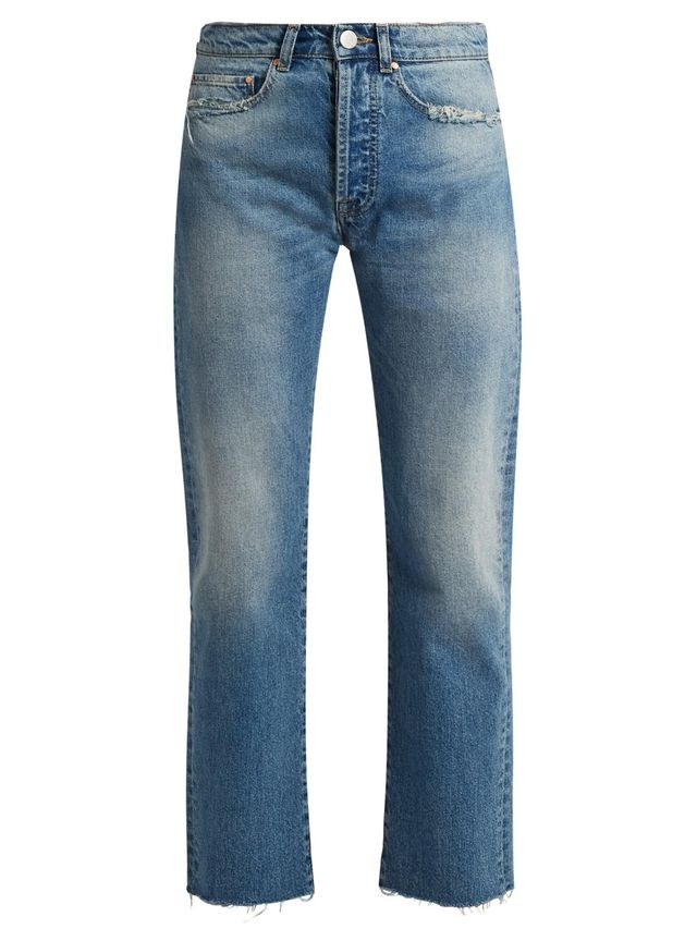 Rip distressed-pocket jeans