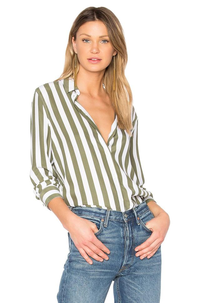 Essential Striped Button Up