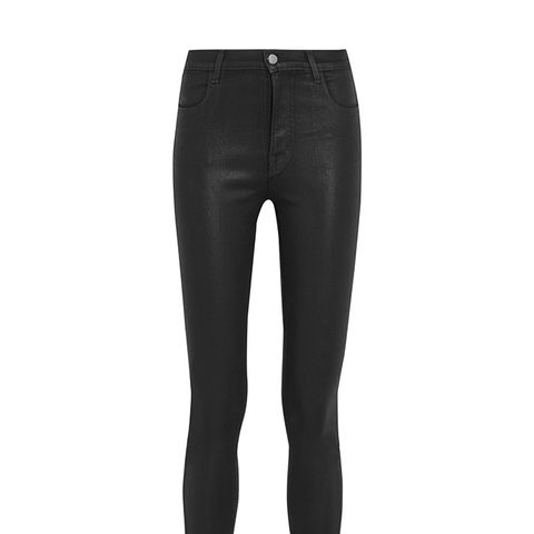Alana Coated High-rise Skinny Jeans