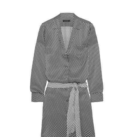 Rosalind Printed Silk-satin Shirt Dress