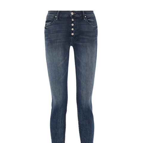 The Fly Cut Stunner Distressed Mid-rise Skinny Jeans