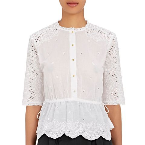 Quincy Cotton Eyelet Top