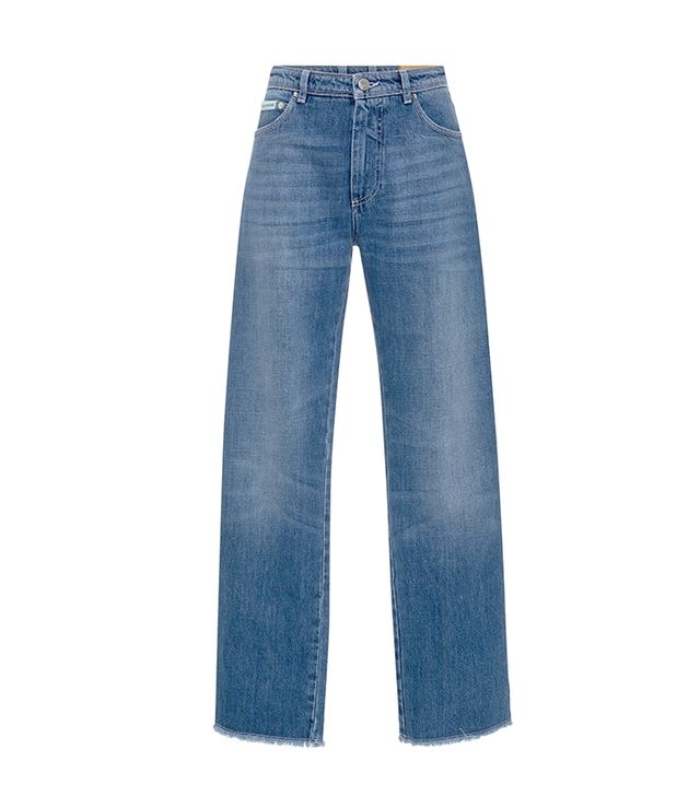 AlexaChung High-Rise Frayed Jeans