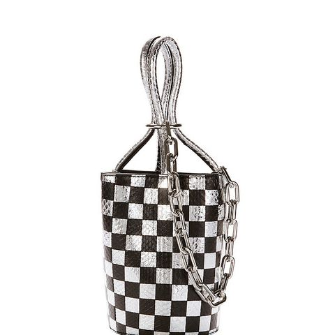Roxy Checkerboard Elaphe Mini Bucket Bag