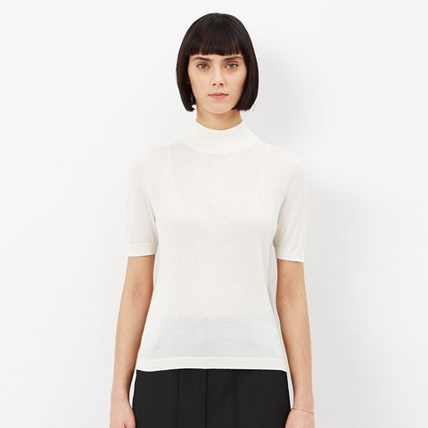 Natura Short Sleeve Turtleneck Sweater