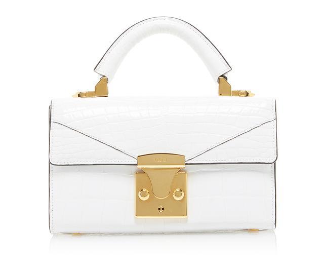 White Top Handle Mini Bag