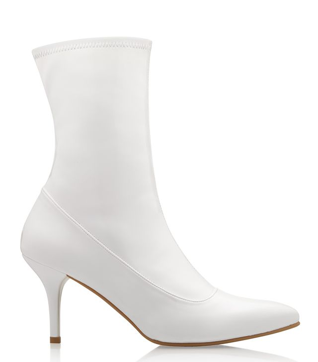 White Patent Ankle Boots