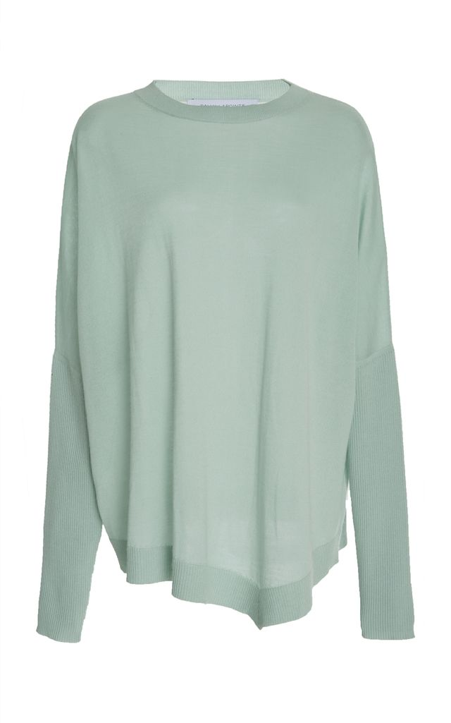 Blue Asymmetrical Sweater