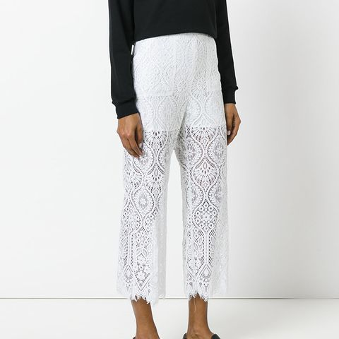 Lace Panel Trousers