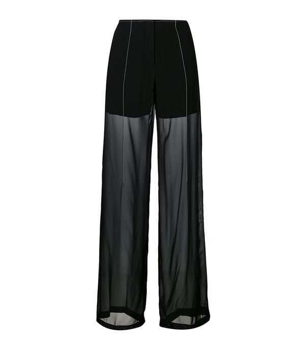 sheer relaxed trousers