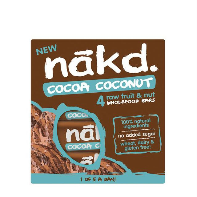 Sugar-free snacks: Nakd Cocoa Coconut Wholefood Bars