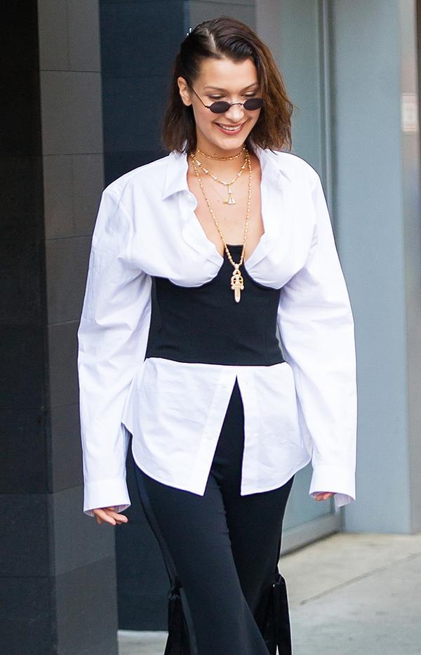 bella hadid roberi and fraud doris sunglasses