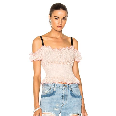 Cropped Lacey Top