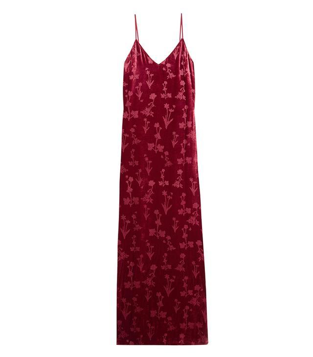 Valerie Glittered Velvet Gown
