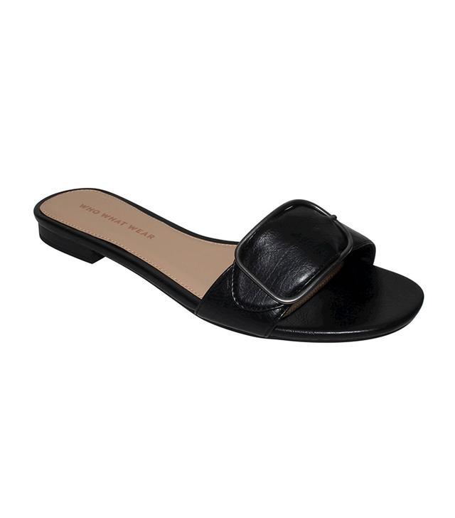 best black slide sandals