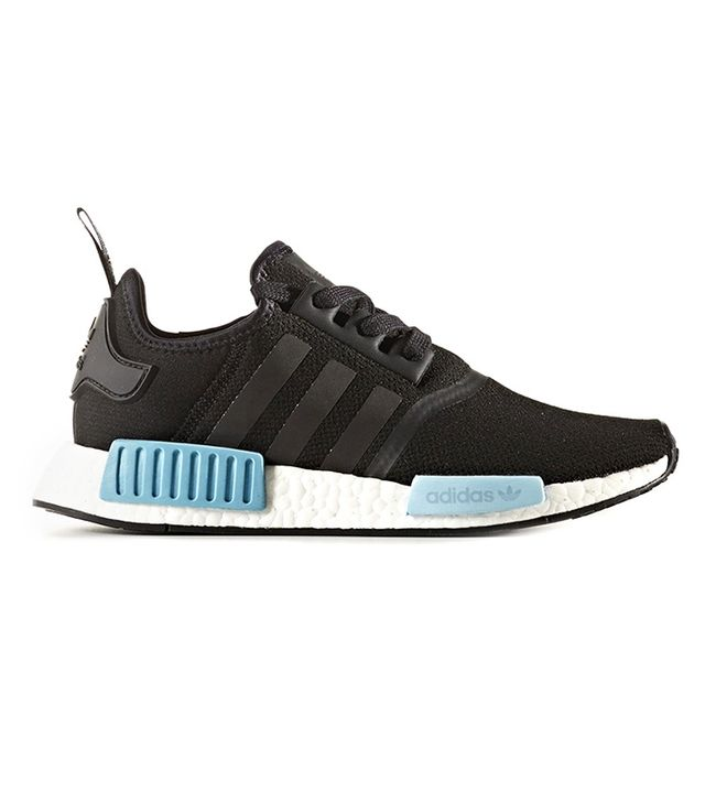 Adidas Originals NMD R1 Sneakers in Core Black/Icey Blue