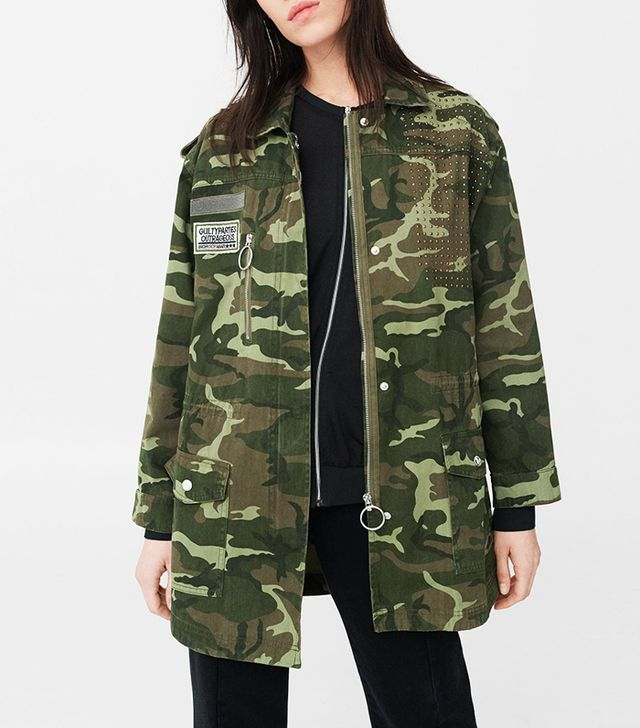 Patched camo jacket
