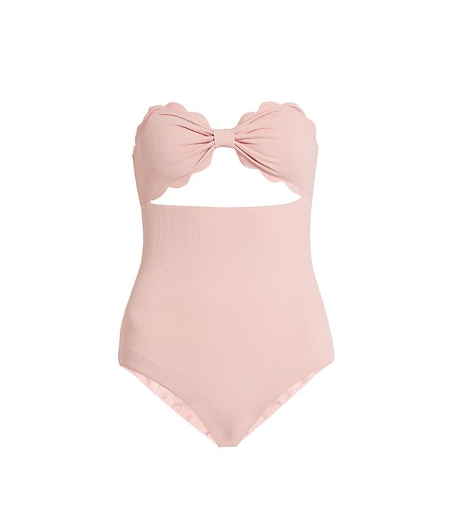 Antibes scallop-edged swimsuit