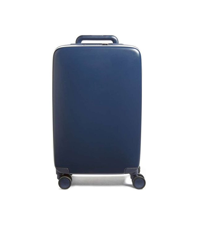 Raden The A22 22 Inch Charging Wheeled Carry-On Suitcase - White