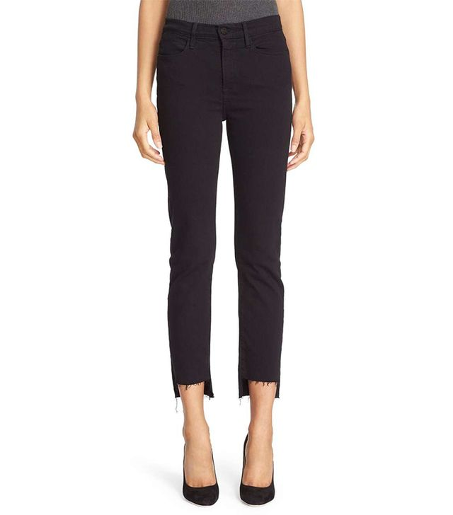 Women's Frame Le High Straight High Waist Staggered Hem Jeans