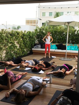 About That Time We Asked You to Do Rooftop Yoga With Us in L.A.
