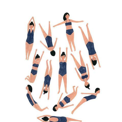 Swimmers Print