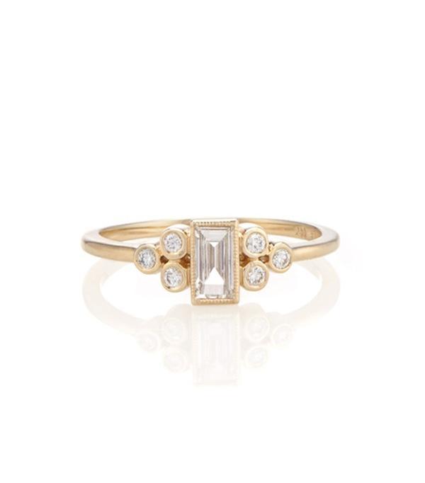 average engagement ring size: Vale Ophelia Ring