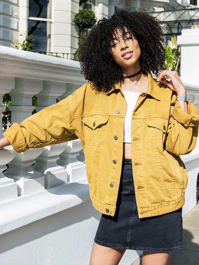 ASOS Lesley: Yellow denim jacket