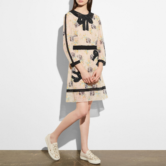 Coach Embroidered Prairie Dog Rose Dress
