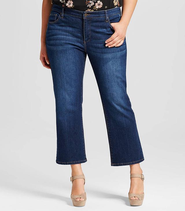 Women's Plus Size Crop Flare Denim