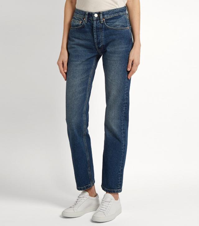 Clean hemmed cigarette-leg jeans