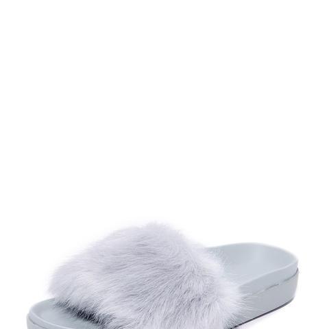 Shai Faux Fur Slides