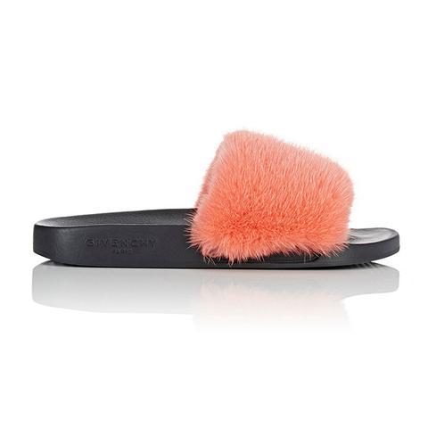 Mink Fur Slide Sandals