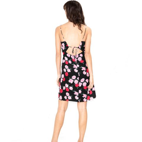 Open Back With Cami Strap Ties Dress
