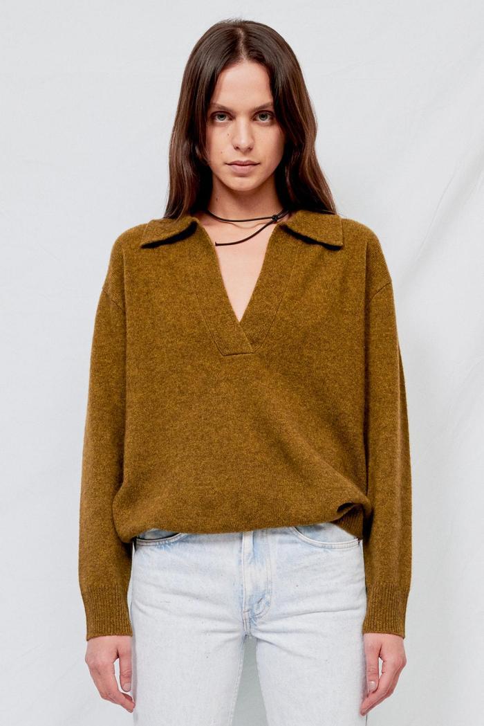 Demylee Moss Green Adina Sweater