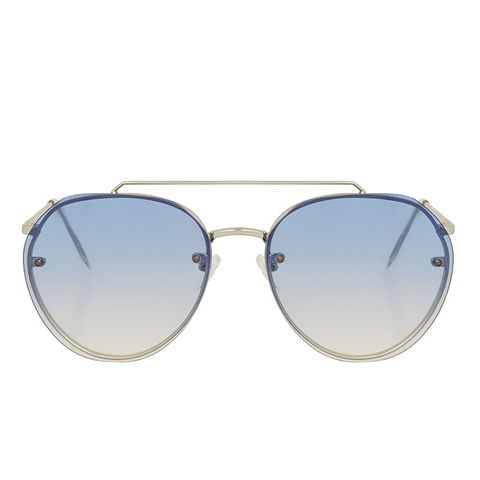 Small Rimless Aviator Sunglasses