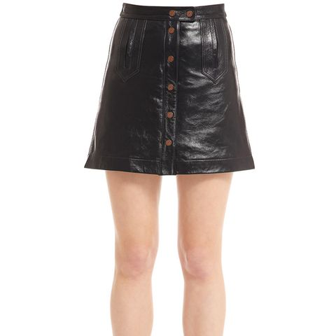 Patent Leather Mini Skirt