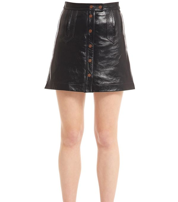 PATENT LEATHER MINI SKIRT GIGI HADID