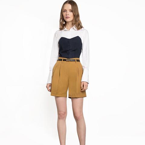 Mustard Yellow High Waisted Shorts