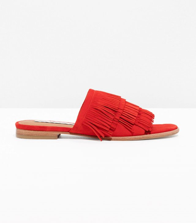 & Other Stories Fringe Slip-On Sandals