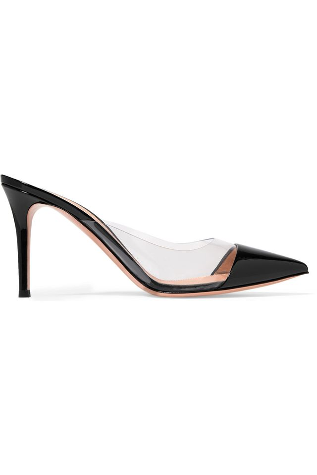 Gianvito Rossib Plexi 85 Patent-Leather and PVC Mules