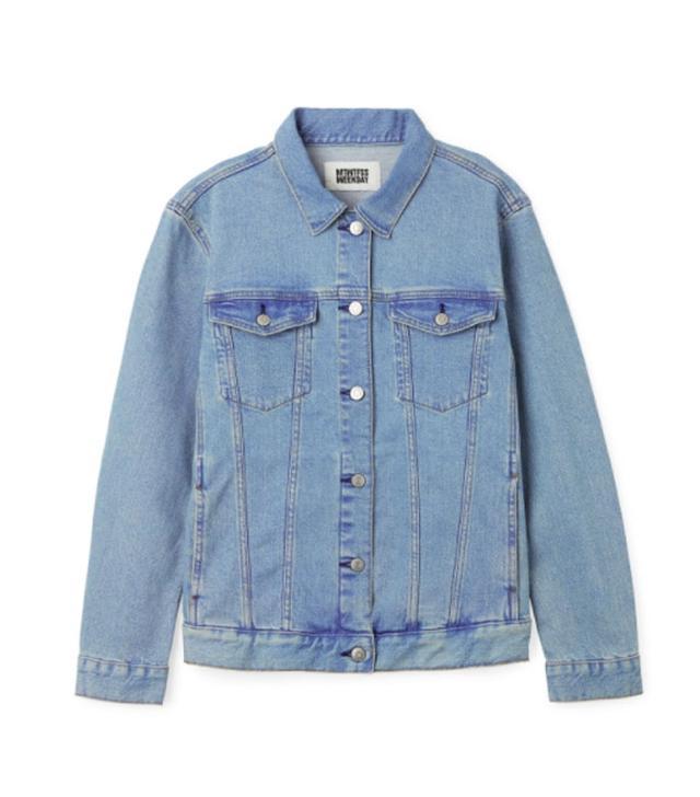 Weekday Double Denim Jacket Blue Vibe