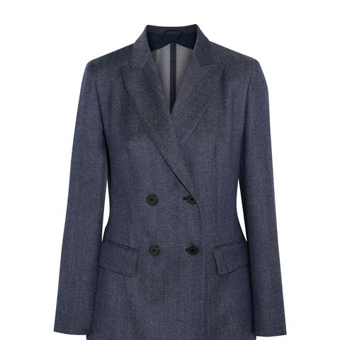 Double-Breasted Wool-Twill Blazer
