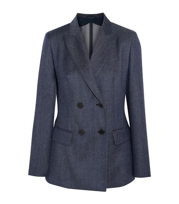 Affordable skinny jeans: Max Mara Double-Breasted Wool-Twill Blazer
