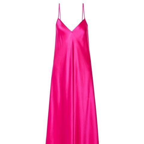 Technopriest Silk-Satin Midi Dress